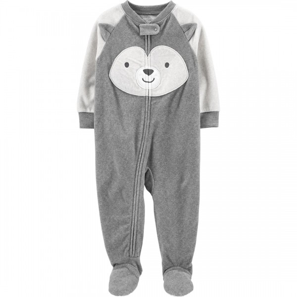 Macacão Carter's Pjs Fleece Husky Grey