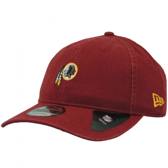 Boné New Era Aba Curva Washington Redskins NFL Mini Logo Strapback - Vinho e524dae861b
