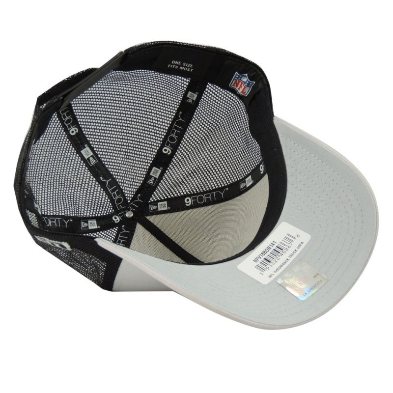 759b810bad ... Boné New Era Aba Curva Oakland Raiders Trucker NFL - Branco Preto Cinza.  Please upgrade to full version of Magic Zoom Plus™