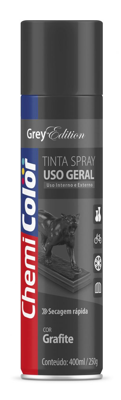 Tinta Spray Grafite Uso Geral 400ml - Chemicolor
