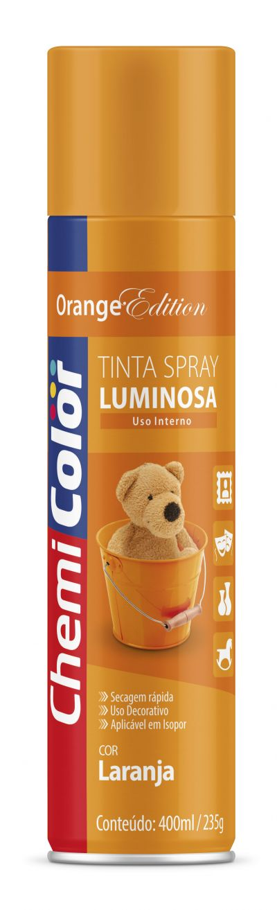 Tinta Spray Laranja Luminosa 400ml - Chemicolor