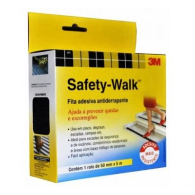 Fita Adesiva Anti-Derrapante Safety Walk 50mm x 5m - 3M
