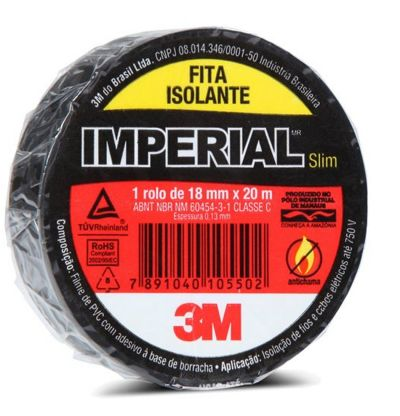 Fita Isolante Imperial Slim 18mm x 10m - 3M