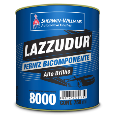 Verniz 8000 Lazzuril Bicomponente 750ml + Catalisador 150ml - Sherwin Williams