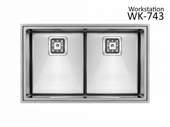 Cuba Dupla WK 743 743x460x215 Workstation SINK