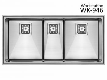 Cuba Tripla WK946 946x640x215 Workstation SINK
