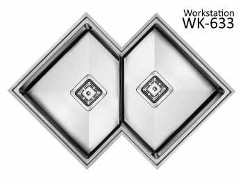 Cuba de Canto Workstation Diamond WK633 633x633x215 SINK