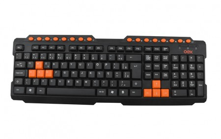 Teclado Multimídia OEX Action Gamer USB - TC200 - Plug and Play  - foto principal 1