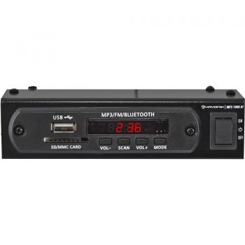Módulo Pré Amplificador USB/Bluetooth/FM/SD/MP3 1000BT Preto Hayonik