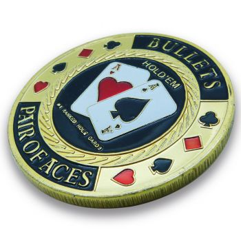Protetor de Cartas - Card Poker Guard - Bullets Pair of Aces