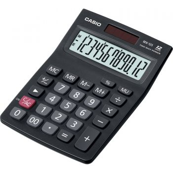 Calculadora de Mesa MX-12S TWO WAY POWER Preta CASIO