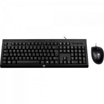 Kit Teclado + Mouse USB C2500 Preto HP