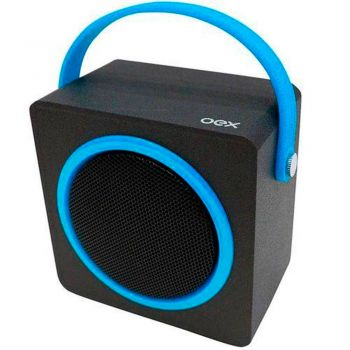 Caixa de Som Speaker OEX Color Box SK404 Bluetooth Azul