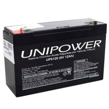 Bateria Selada 6V/12A UP6120 UNIPOWER