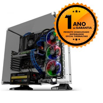 Gabinete Thermaltake TT CORE P3 STG SNOW WALL MOUNT SGCC TEMP GLASS*1 CA1G400M6WN05