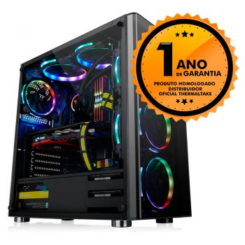 Gabinete Thermaltake TT V200 TG/BLACK/WIN/SPCC/TEMPERED GLASS*1 CA-1K8-00M1WN-00