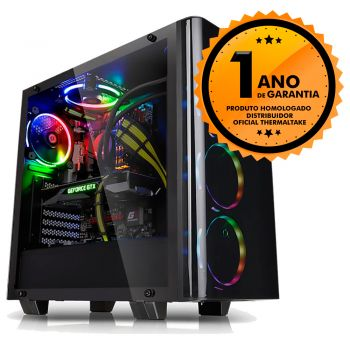 Gabinete Thermaltake TT VIEW 21 TG BLACK/WIN/SGCC TEMP. GLASS X2 CA-1I3-00M1WN-04