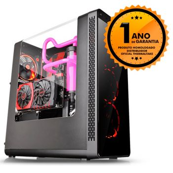 Gabinete Thermaltake TT VIEW 27 BLACK/WINDOW/SGCC/Riing 12 RED*4 CA-1G7-00M1WN-RE 4 FAN