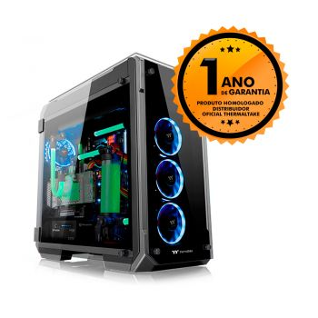 Gabinete Thermaltake TT VIEW 71 TG BLACK/WIN/TEMPERED GLASS*4 CA-1I7-00F1WN-00 2 FAN