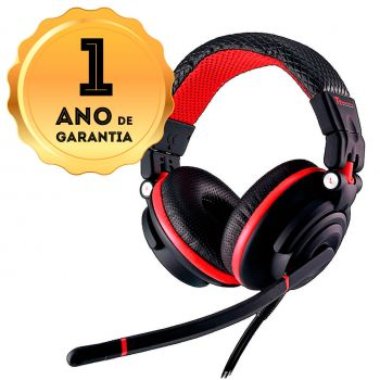 Headset Gamer Profissional Thermaltake TT Captain Dracco Chao 50mm Speaker HT-DRC009ECRE