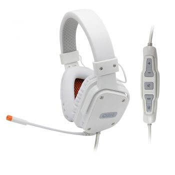 Headset Shield Branco Virtual Surround 7.1 Controle Multifuncional HS409