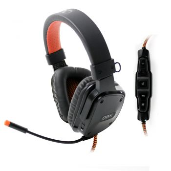 Headset Shield Preto Virtual Surround 7.1 Controle Multifuncional HS409