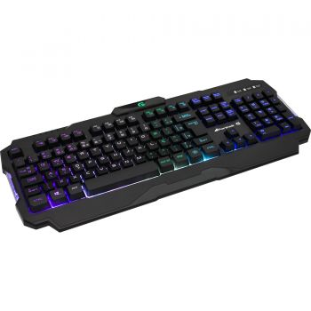 Teclado Gamer Fortrek K3 RGB Led Antighosting Multimídia Splash Proof