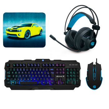 Kit Gamer Fortrek – Headset H2 + Mouse M5 + Teclado K3 + Mousepad