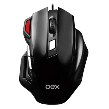 Mouse Gamer Fire Oex Usb 3200dpi Led Luminoso MS304