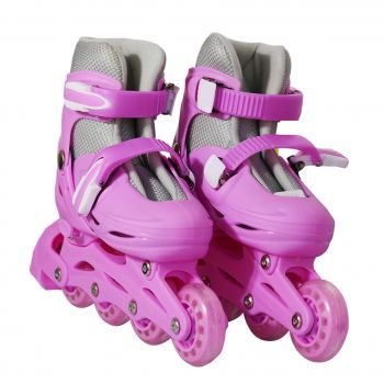 OUTLET - Patins 4 Rodas Inline Rosa Tamanho P Roller Way BW018RP