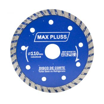 Kit 20 Peças Disco Diamantado Turbo Max 110mm Mármore Concreto