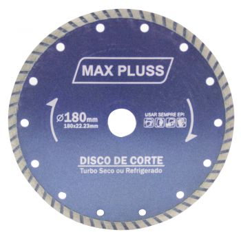 Disco Diamantado 7 Pol x 180mm Cerâmica Granito Turbo Max