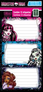Etiqueta 141073 Monster High c/ 12 Etiquetas