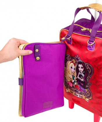 Kit Mochila Grande com Roda Ever After High 16Z 64361 + Lancheira 64365 + Estojo 64368