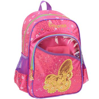 Mochila Grande Princess Luxcel IS32791-PK