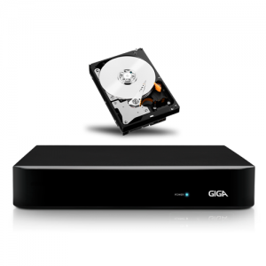 DVR HVR CFTV Stand Alone 4 Canais AHD 720p HD Acesso Remoto Cloud Giga Security + HD 1TB