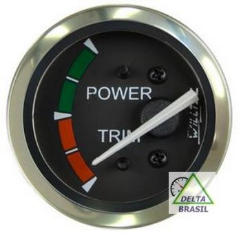 Ind. Elétrico Power Trim 12 ou 24V - Preto - ø52mm