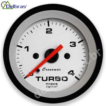 Pressão do Turbo 4Kgf/cm² - ø52mm - Cronomac Street Branco