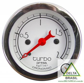 Pressão do Turbo 2 Kgf/cm² - ø52mm - Hot Rod SILVER