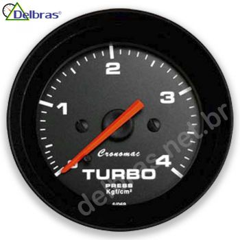 Pressão do Turbo 4Kgf/cm² - ø52mm - Cronomac preto