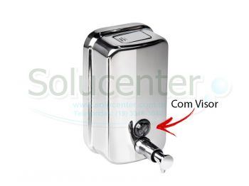 Saboneteira / Dispenser de Pressão Inox 500ml Visor Frontal 51.106