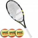 Raquete de Tênis Infantil Babolat Kit Nadal Jr. 25'' + Play Stay X3