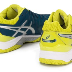 Tênis Asics Gel Resolution 7 Clay Ink Blue Sulphur Spring Masculino  - foto principal 5