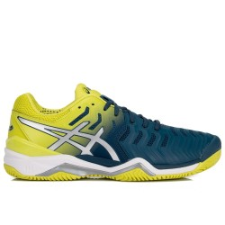 Tênis Asics Gel Resolution 7 Clay Ink Blue Sulphur Spring Masculino  - foto principal 2
