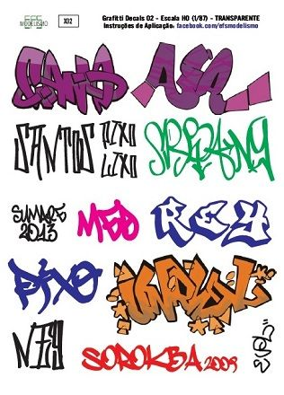 Decal Grafitti MOD.2 - EFS MODELISMO - X02