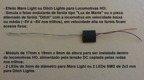 Mars Light ou Ditch Lights para Locomotivas - ARK TRENS - ATMD1  - foto 1