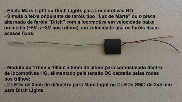 Mars Light ou Ditch Lights para Locomotivas - ARK TRENS - ATMD1  - foto principal 1