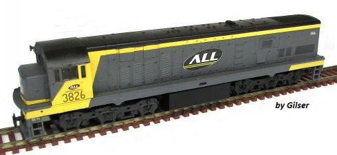 Locomotiva U20 Customizada ALL Fase I - CU144