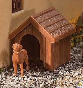 Kit Dog & Kennel (Doghouse) - WALTHERS - 949-4147  - foto 2