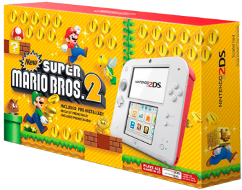 Nintendo 2DS com Super Mario Bros.2
